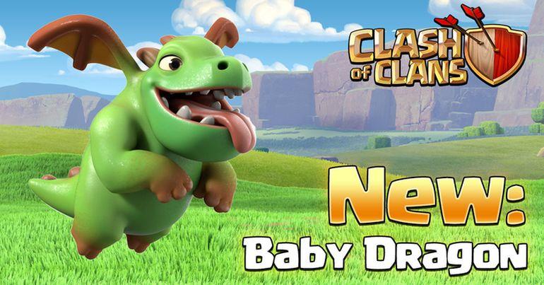 Clash of Clans dragon baby